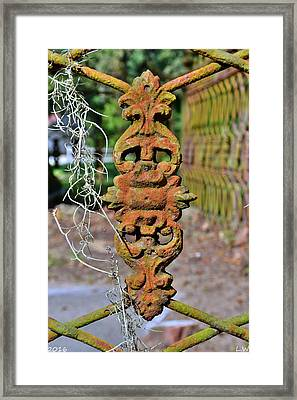 The Fence At The Chapel Of Ease St. Helena Island Beaufort Sc Framed Print by Lisa Wooten