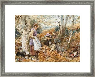 The Fern Gatherers Framed Print by Myles Birket Foster