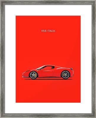 The Ferrari 458 Italia Framed Print by Mark Rogan