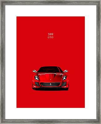 The Ferrari 599 Gto Framed Print