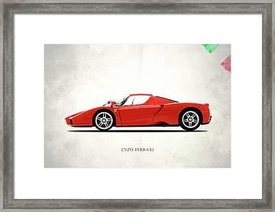 The Ferrari Enzo Framed Print by Mark Rogan