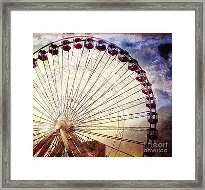 The Ferris Wheel At Navy Pier Framed Print