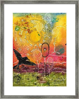 The Ferris Wheel Of Life - Wip Framed Print by Angela L Walker