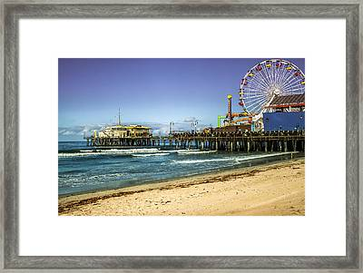 The Ferris Wheel - Santa Monica Pier Framed Print