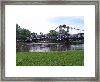 The Ferry Bridge Framed Print by Rod Johnson
