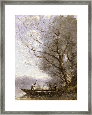 The Ferryman Framed Print by Jean-Baptiste-Camille Corot