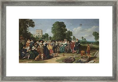 The Fete Champetre, 1627 Framed Print by Dirck Hals