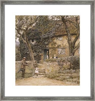 The Fiddler Framed Print by Helen Allingham
