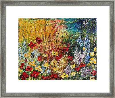 The Field Framed Print by Teresa Wegrzyn