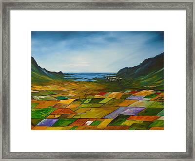 The Fields Of Dingle Framed Print