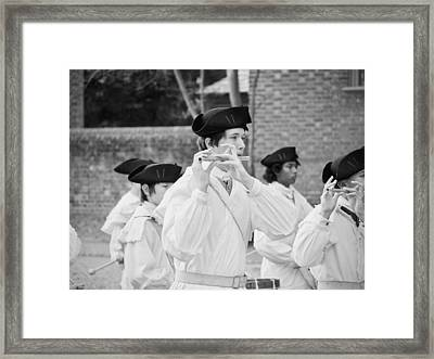The Fifes And Drums Framed Print by Rachel Morrison