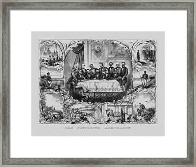 The Fifteenth Amendment  Framed Print by War Is Hell Store