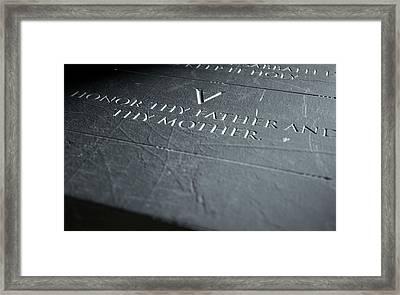 The Fifth Commandment Framed Print