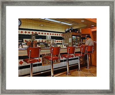 The Fifties Diner 2 Framed Print