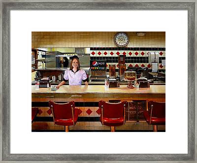 The Fifties Diner Framed Print