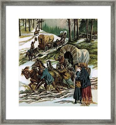 The Fight For The Wild West Framed Print by Ron Embleton