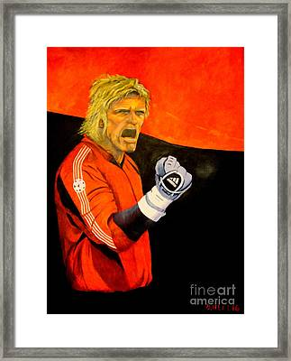 The Fighter - 145x110 Cm Framed Print by Dagmar Helbig