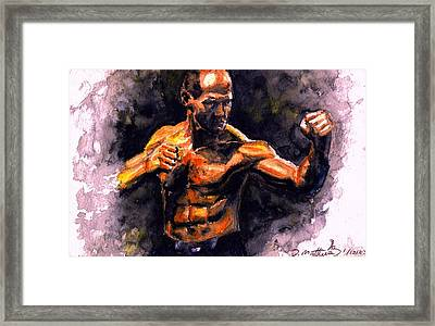The Fighter.  D Framed Print by Darryl Matthews