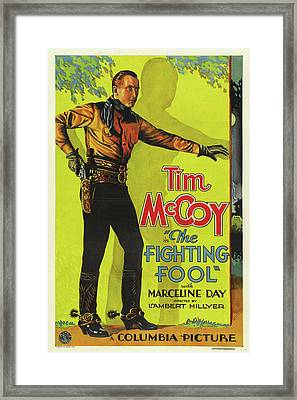 The Fighting Fool 1932 Framed Print by Columbia