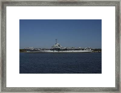 The Fighting Lady Framed Print by Bonnes Eyes Fine Art Photography