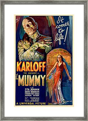 The Film Poster For The Mummy Framed Print
