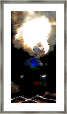 The Final Junction Bound For A Place I Once Called Home . Abstract . Tall Version Framed Print