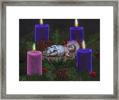 The Final Light Ignites Framed Print