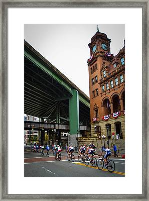 The Final Stretch Framed Print