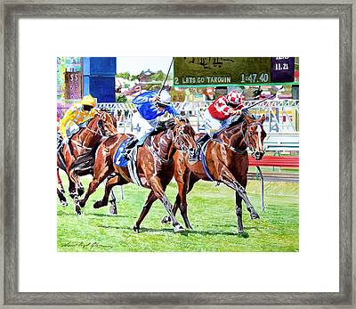 The Final Stretch Framed Print by David Lloyd Glover