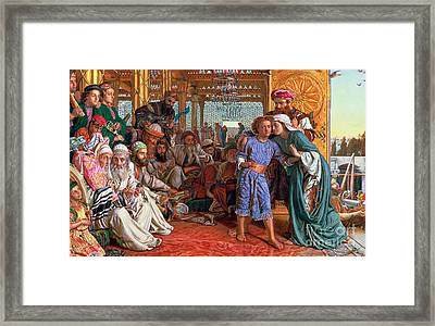 The Finding Of The Savior In The Temple Framed Print by William Holman Hunt