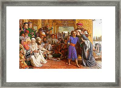 The Finding Of The Saviour In The Temple  Framed Print by William Holman Hunt
