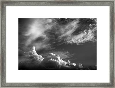The Fine Art Of Clouds Framed Print by Jim  Darnall