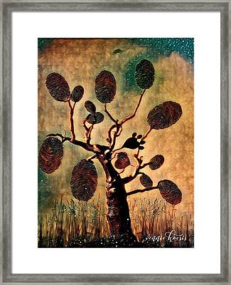 The Fingerprints Of Time Framed Print