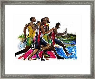 The Finish Line Framed Print