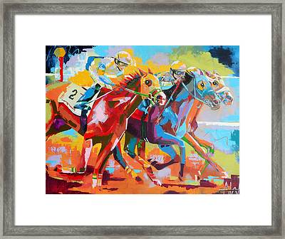 The Finishing Post- Large Work Framed Print