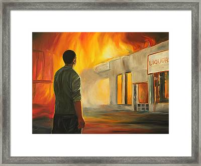The Fire Framed Print by Emily Olson