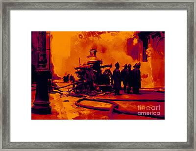 The Fire Fighters - 20130207 Framed Print by Wingsdomain Art and Photography