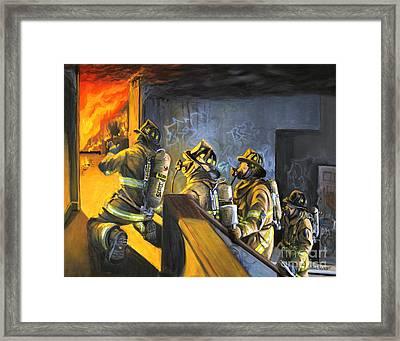The Fire Floor Framed Print by Paul Walsh