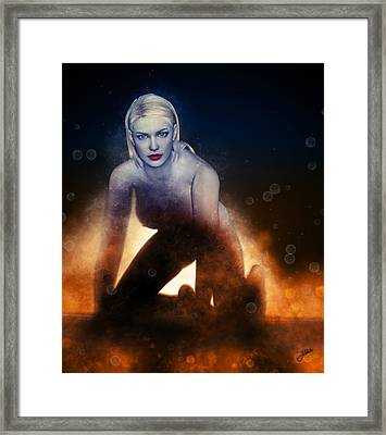 The Fire Girl Framed Print by Joaquin Abella