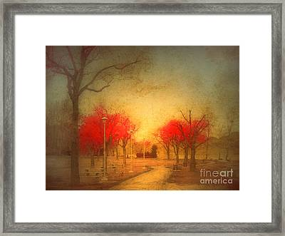 The Fire Trees Framed Print