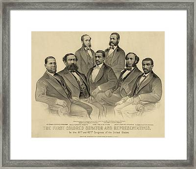 The First African American Senator Framed Print