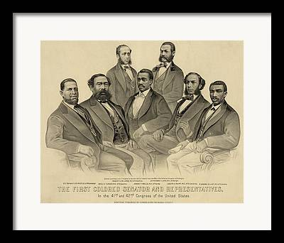 Post-civil War Framed Prints