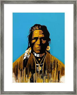 The First American Framed Print by Brooke Lyman