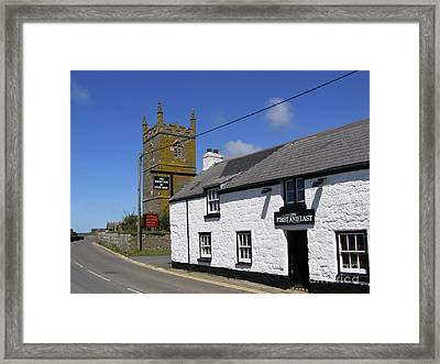 Framed Print featuring the photograph The First And Last Inn In England by Terri Waters