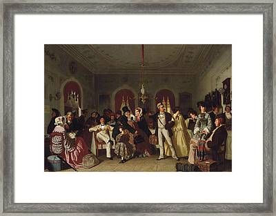 The First And Second Class Waiting Room Framed Print by Carl Henrik d'Unker