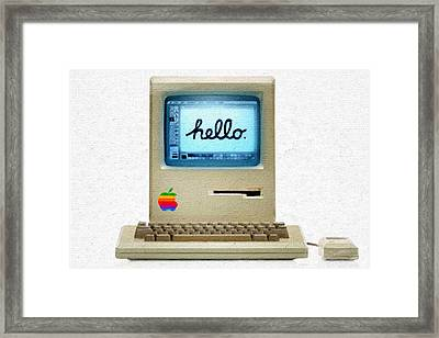 The First Apple Computer Painting Framed Print by Tony Rubino