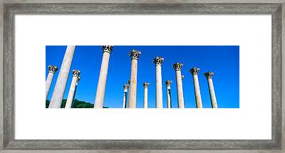 The First Capitol Columns Of The United Framed Print by Panoramic Images
