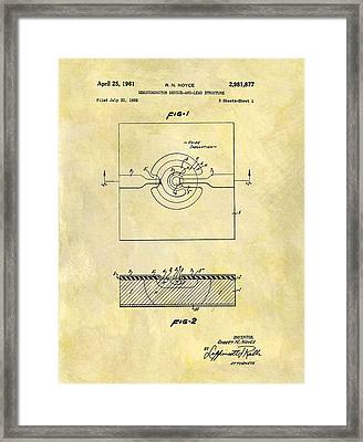 The First Computer Chip Patent Framed Print