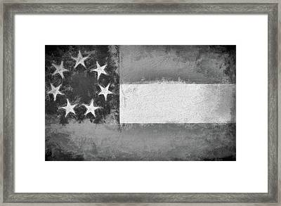 The First Confederate Flag Framed Print