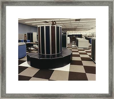 The First Cray-1 Super Computer Framed Print by Everett
